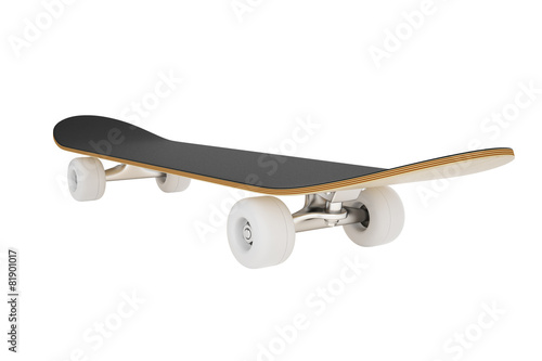 skateboard isolated on a white background. - 81901017