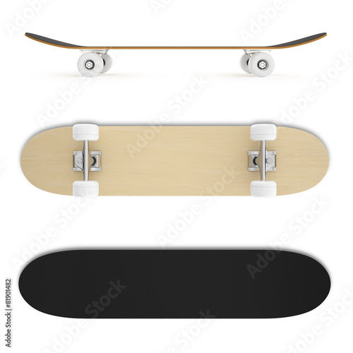 set skateboard isolated on white background. - 81901482
