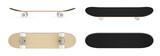 set skateboard isolated on white background.