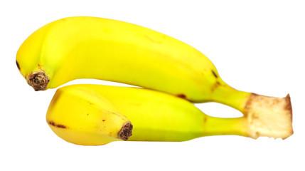 Banana isolated white background.
