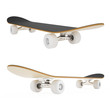 set skateboard isolated on white background. - 81902270