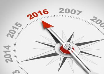 Kompassnadel zeit auf 2016