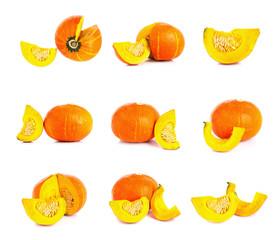 Cross section of a pumpkin