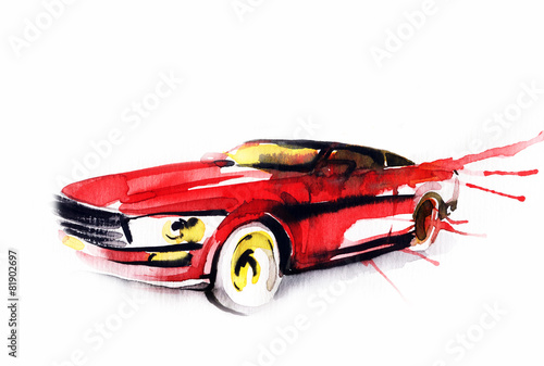 Car. Art sketch . Sport Car - 81902697