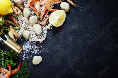 Fotobehang Vis Fresh seafood