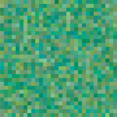 Geometric Background with Random Colored Green Squares.