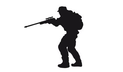 Scharfschützen Silhouette