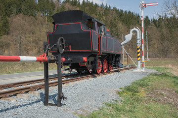 The old steam locomotive outdoors