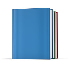 Books blank cover no labels template textbook