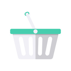 Shopping plastic cart.
