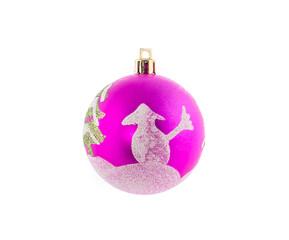 Pink christmas ball.