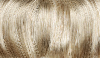 Closeup picture of dense, straight wig