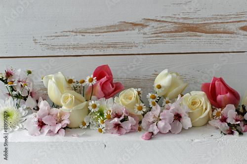Fotobehang Tulp Blumenarrangement