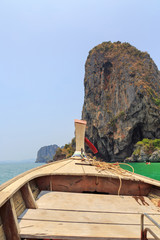 Bow of Thai long tail boat