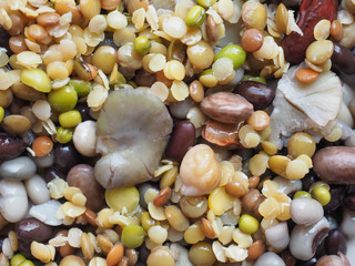 Beans vegetable salad