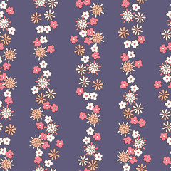 light background romantic floral seamless pattern