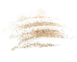 pile sand isolated on white background