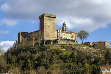 Castle of the Counts of lemos in Monforte de Lemos