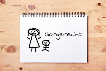 stick man background - drawing block - german for child custody