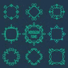 Monogram frames.