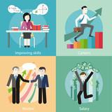 Improving Skills, Careers, Mentor, Salary poster
