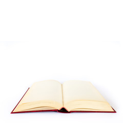 Empty book on white background