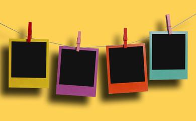 Color polaroids hanging