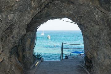 cinque terre beach landscape sea view