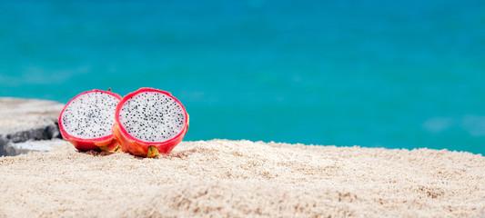 Dragon Fruit On Sand