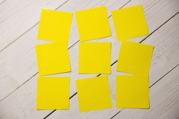 Yellow post its