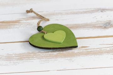 Zwei grüne Herzen