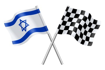 Flags : Israel and Checkerboard