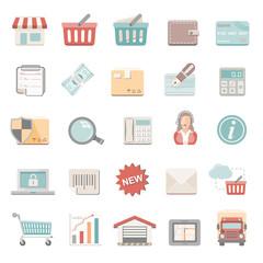 Flat Icons - Shopping