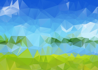 Triangular Background with Summer Colors