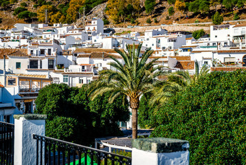 Day view of Mijas. Charming Andalusian town. Spain