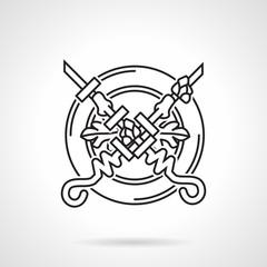 Black line vector icon for kebab