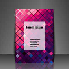 Template flyer with abstract background.