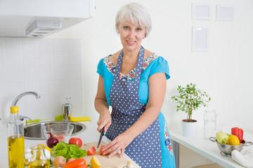 Mature woman on the kitchen