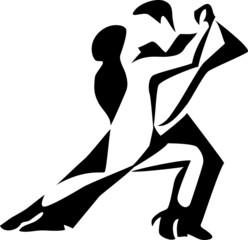 stylized tango dancers
