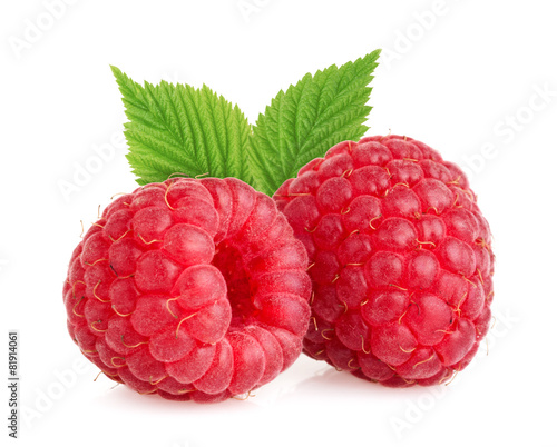 Raspberries isolated - 81914061
