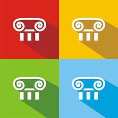 Iconos capitel colores sombra