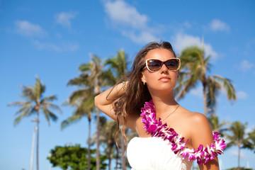 Beautiful girl spending summer holidays