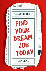 Find Your Dream Job Today Newspaper Clipping