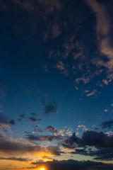beautiful cloudy sunset sky background