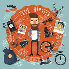 Hipster concept seal icon