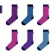 Set of socks with space pattern with stars - 81916624