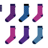 Set of socks with space pattern with stars