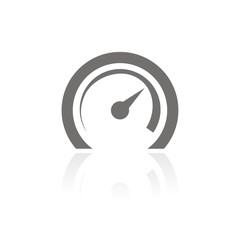 Icono velocímetro FB reflejo