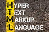 IT Acronym HTML as Hyper Text Markup Language poster