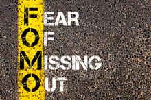 "Постер, картина, фотообои ""Social Media Acronym FOMO as FEAR OF MISSING OUT"""